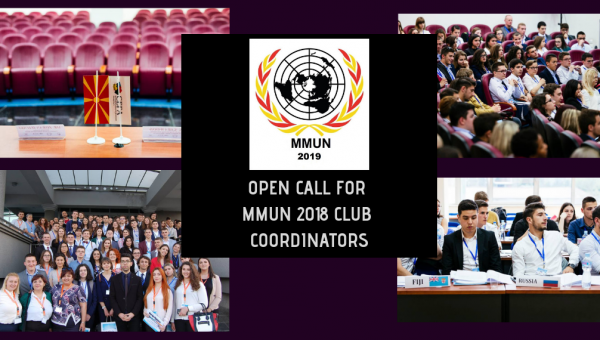 Call for MMUN 2019 Club Coordinators