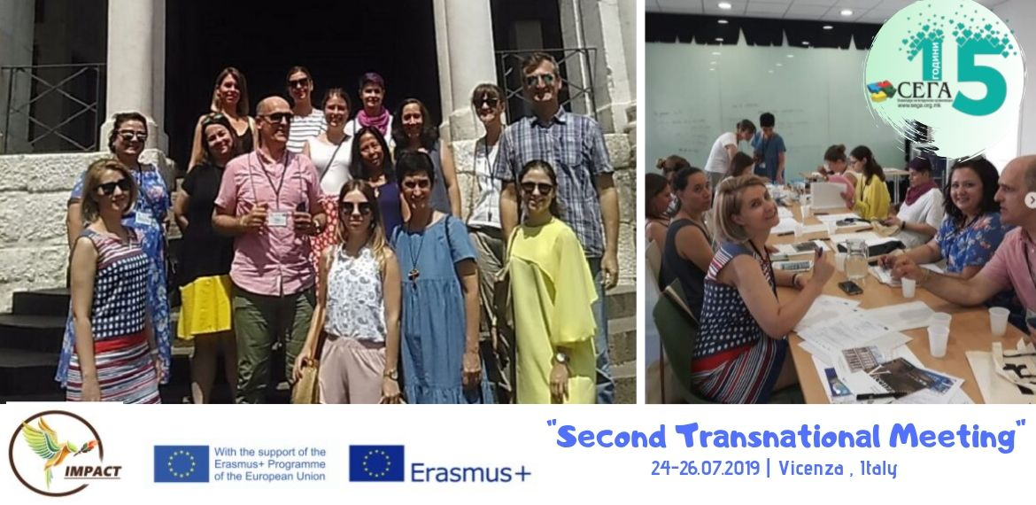 Two Representatives of Coalition SEGA at Second Transnational Meeting of the Project IMPACT in Vicenza, Italy